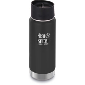 Klean Kanteen Wide Vacuum Insulated Gourde Bouchon Café 2.0 473ml, shale black matt